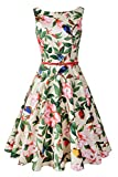 Search : Chicanary Women's Floral 1950s Rockabilly Cotton Vintage Dress