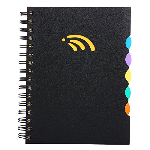 "Subject Notebook (A5 Notebook, 5 Subject Spiral Notebooks and Journals, Wide Ruled, Lab Professional Notepad, Colored Dividers with Tabs, 5.83""×8.27"", 290 Pages, Hardcover Memo Planner for School Kids Girls Men Women)"