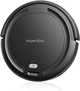 Robotic Vacuum K5AV Mini Cleaner, LiLithium Battery 95 Min Working Time, 1500mAh Automatic Robot Cleaner. Good for Hardwood Floor & Low Pile Carpet, Pet Hair Allergies Friendly(Black)