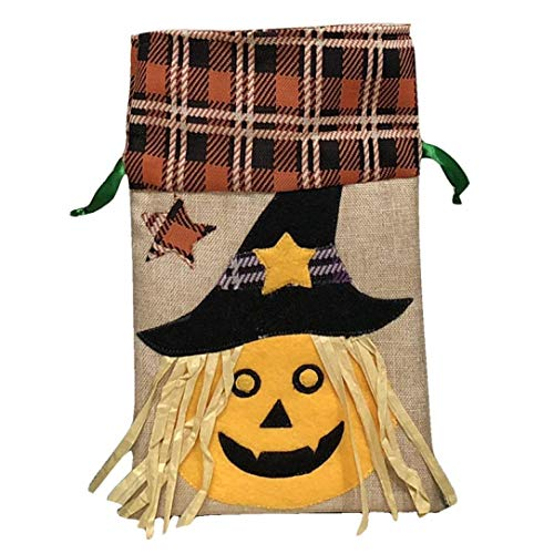 Sunshinehomely Halloween Candy Bag Witches, Halloween Cute Witches Candy Bag Packaging Children Party Drawstring Storage Bag (C)
