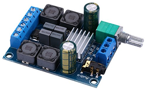 Amplifier Board, Yeeco 50W+50W Audio Power Amplifier Module DC 4.5-27V 2.0 Dual Channel Stereo Amp Board HiFi Digital Audio Amp Board DIY Sound System Component with Volume Adjustment Knob