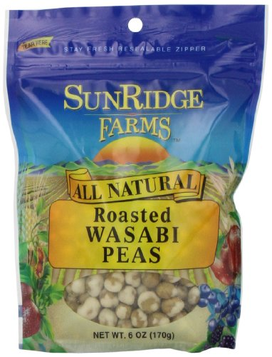 Sunridge Farms Roasted Wasabi Peas, 6-Ounce Bags (Pack of 12) Review