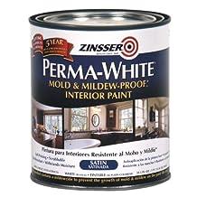 Rust-Oleum 02704 Perma-White Mold & Mildew Proof Interior Paint, Satin Finish