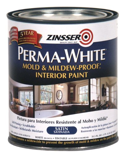 Zinsser- Perma-White Mold & Mildew-Proof Satin Interior Paint (Best Paint For Mold)