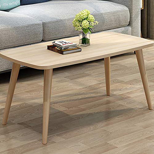 Allywit Tables Nordic Style Coffee Table Simple and Modern Small and Medium-Sized Fashion Coffee Table Rectangular Arc Table Solid Wood Tables 39.3719.68 Inch -