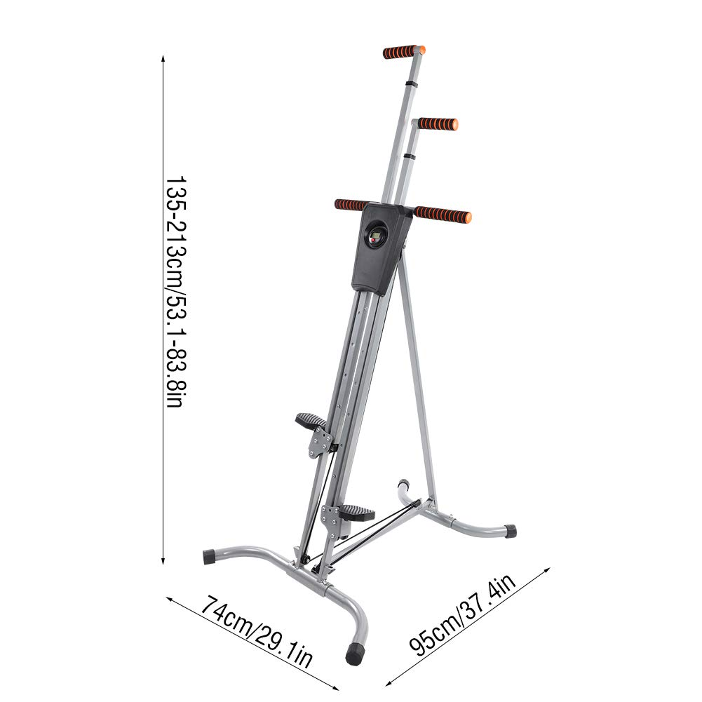 Yosooo Home Climber Machine, Adjustable Folding Heavy Duty Steel Vertical Full Body Workout Fitness Climber Climbing Cardio Exercise Machine Home Gym Stepper by Yosooo (Image #2)