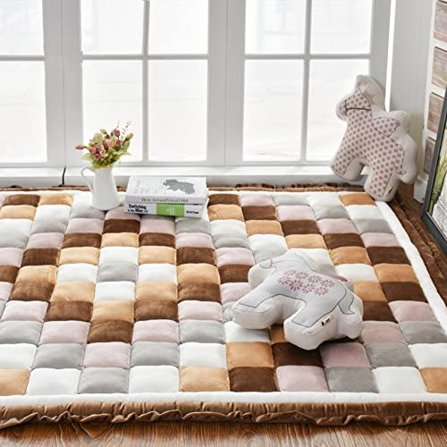 Decorative Rugs Modern Carpet Rectangle mats for Bedroom Living Room Simple Bedside Crawling mat Tatami Korean flattened Short Plush Home Non-Slip-C 150x200cm 59x79inch