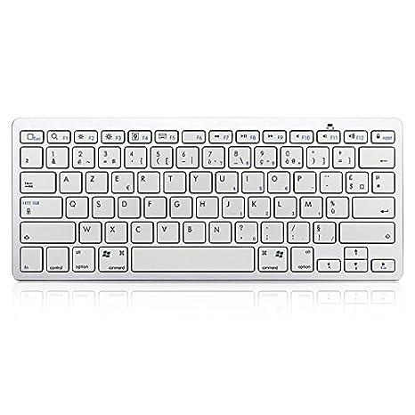 Sut Francés v3.0 bluetooth teclado blanco para android macbook pc: Amazon.es: Electrónica