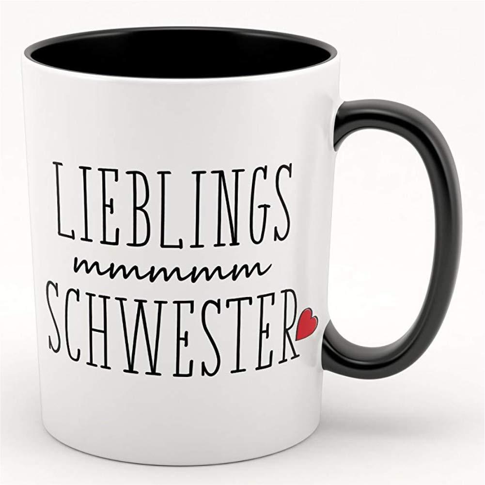 Lieblingsschwester - Kaffeebecher, Tasse mit Motiv - tolles Geschenk ...
