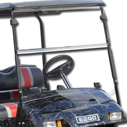 EZGO Marathon 1986-1994 Clear Fold Down Impact Resistant Windshield for EZGO Marathon Golf Cart INSTALLS in MUNUTES!
