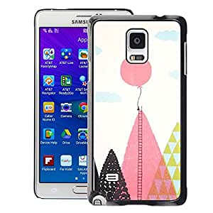 Planetar® ( Balloon Ladder Hope Inspiring Pink Polygon ) Samsung Galaxy Note 4 IV / SM-N910 Fundas Cover Cubre Hard Case Cover
