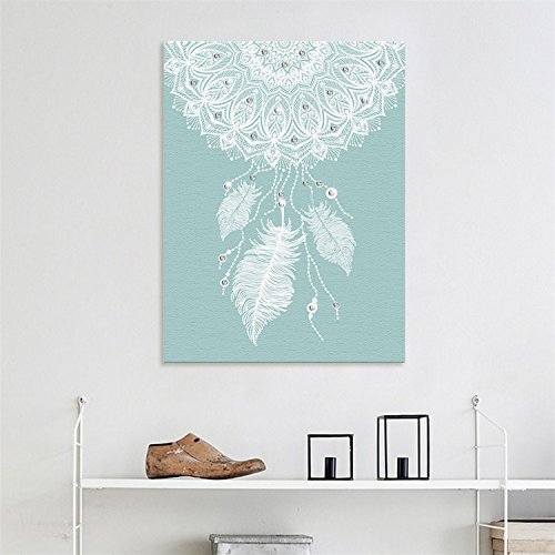 AmazingWall Dream Catcher DIY Home Decoration Art Decal Kids Room Nursery Bedroom Artwork Decor 15.75x11.81 -