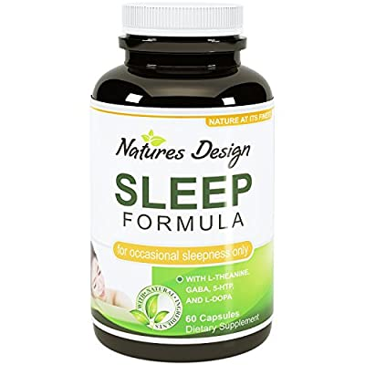 Best Natural Revitalizing Sleep Formula Supplement - End Fatigue With Pure Melatonin - Safe and Potent Magnesium (Oxide/Citrate) - Support Sleep with GABA (gamma-Aminobutyric Acid) - Sleep Deep with Phellodendron Root (Herb Powder) - Premium Quality L-Tha