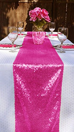 ShinyBeauty Sequin Table Runner or Dresser Scarves 13 by 90-