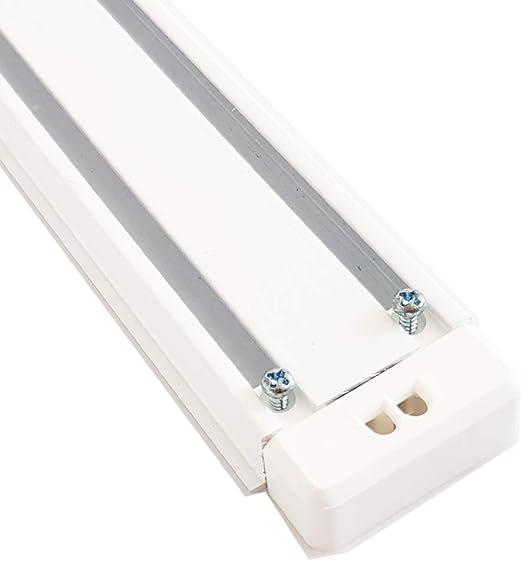2-Lauf 280 cm Aluminium Gardinenschiene weiß für Flächenvorhänge