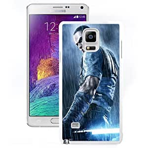 NEW Unique Custom Designed Samsung Galaxy Note 4 N910A N910T N910P N910V N910R4 Phone Case With Star Wars Jedi Soldier_White Phone Case