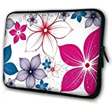 """Waterfly® Noble Flower 16"""" 17"""" 17.3"""" 17.4"""" inch Laptop Notebook Computer Netbook PC Soft Bag Sleeve Case Cover Pouch Briefcase Holder Protector Pack For Apple MacBook Pro 17.3"""" Toshiba PSKNJU-004001 ASUS 17.3"""" HD HP ENVY 17-J037CL HP Touchsmart 17z HP Pavilion DV8000 DELL PRECISION M90 And Most 16"""" 17"""" 17.3"""" 17.4"""" Inch Netbook Laptop Ultrabook Chromebook Laptop"""