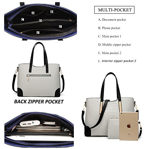 YNIQUE Satchel Purses and Handbags for Women Shoulder Tote Bags Wallets by YNIQUE (Image #6)
