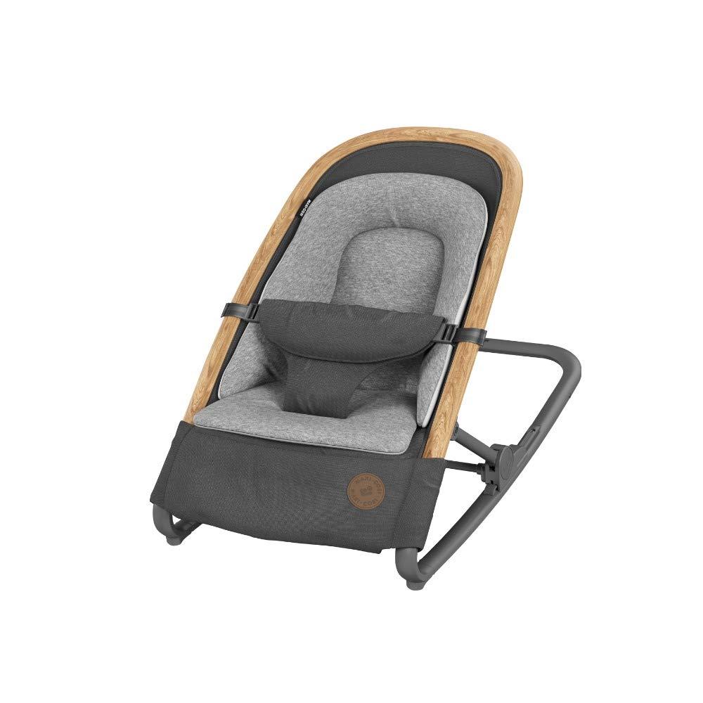 nat/ürliches Maxi-Cosi Kori 2-in-1 Babywippe 9 kg einfach zusammenklappbar hochwertige Babyschaukel nutzbar ab der Geburt bis max ergonomisches Schaukeln ohne Elektronik Essential Graphite grau