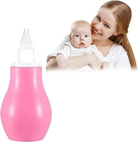 1pc bebé aspirador nasal de la nariz del bebé Limpiador de Prensa Tipo bebé aspirador nasal bebé suministra productos inocuos aspirador nasal para los recién nacidos Niños bebés, rosa: Amazon.es: Bebé