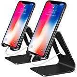 Fynix Phone Stand, Black, 2 units/pack Mobile Phone Stand Charging & Anti-Skid Holder, Dock Compatible iPhone 8 X 7 6 6s Plus 5 5s 5c iPad mini, Accessories Desk