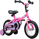 Mearx Children's Bike with Training Wheels 12 Inch (Pink)