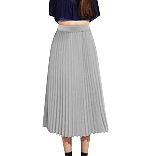 7eaccbfb2c Amazon.com: Womens Linen Midi Skirt 💖 Ladies Casual Solid Color ...