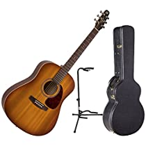 Seagull Entourage Rustic Acoustic-Electric Guitar with Quantum I w/Deluxe Hardshell Case and Guitar Stand