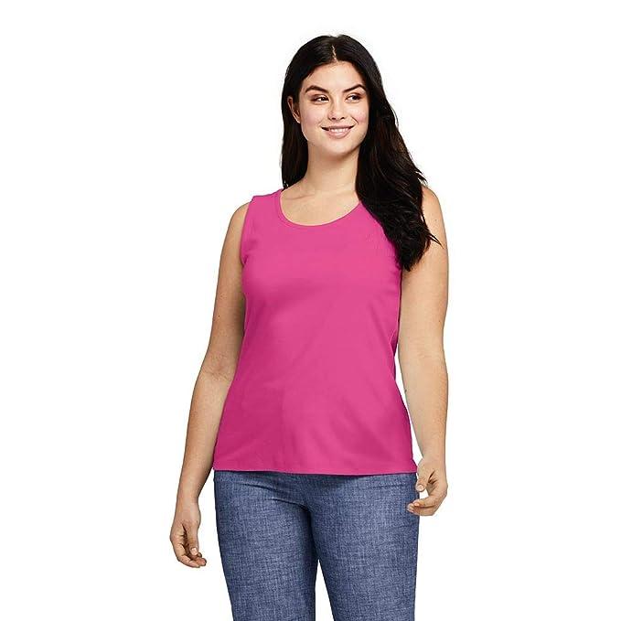 22f1cad50eb Lands  End Women s Plus Size Cotton Tank Top at Amazon Women s ...