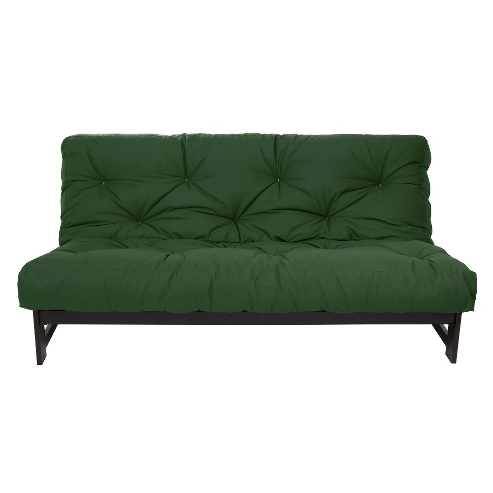 Mozaic Full Size 10-inch Cotton Twill Futon Mattress, Hunter Green by Mozaic