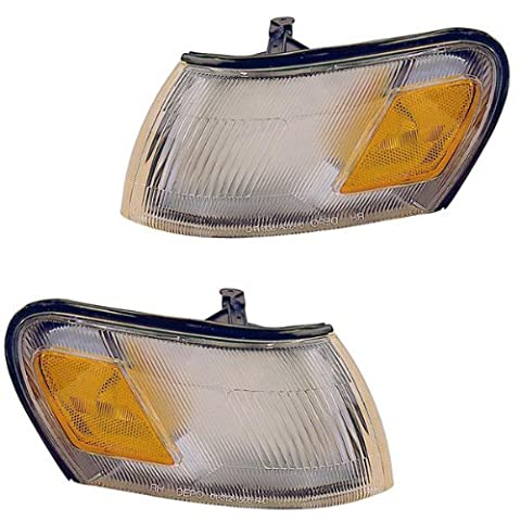 1994-1997 Toyota Corolla 2WD Corner Park Light Turn Signal Marker Lamp Pair Set Right Passenger AND Left Driver Side (1994 94 1995 95 1996 96 1997 - Turn Signal Park Light Lamp