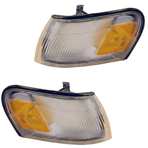 Signal Park Turn Side (1994-1997 Toyota Corolla 2WD Corner Park Light Turn Signal Marker Lamp Pair Set Right Passenger AND Left Driver Side (1994 94 1995 95 1996 96 1997 97))