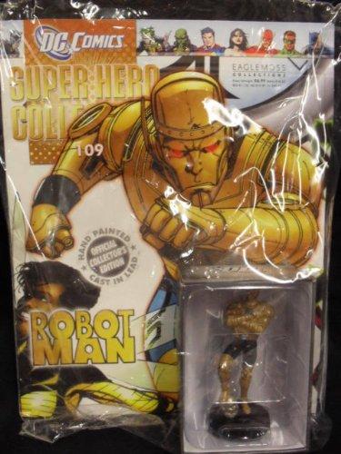 DC Comics Super Hero Collection Lead Figurine: Robot Man #109 / Eaglemoss - Sealed w/Collector's Magazine - VERY RARE!!