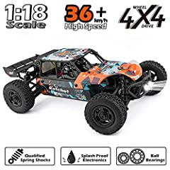 DESCRIPTION This off-road sand rail buggy is a lovely novelty, built in four wheel drive and ready-to-run version, embodying a compact roll cage configuration. KEY FEATURES ✔️2.4GHz Radio System ✔️ RC 380 brushed power system ✔️ Four Wheel Dr...