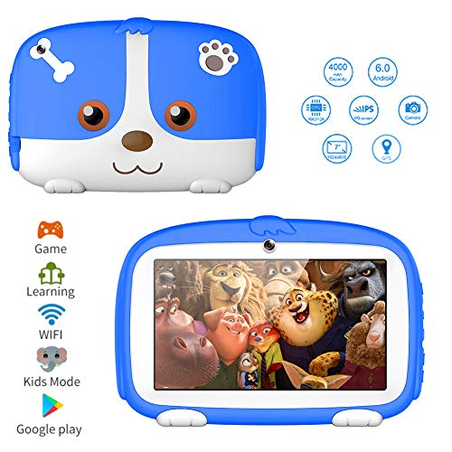 Kids Tablets,7inch HD Touch Screen Kids Tablet for Kids 1G+8G Android Tablet Quad Core Kids Tablets with WiFi, Parental Control, 40+ Learning,Training Games APPs, Protect Kids Eyes (Best Computer Learning App)