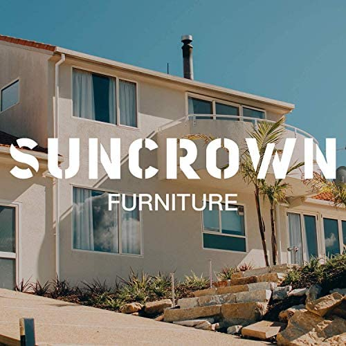 519qSBczEAL. AC SUNCROWN 3-Piece Patio Bistro Set, Outdoor Black Wicker Chairs, Patio Furniture Set with Glass Table, Red Cushion    From the brand