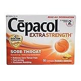 Cepacol Sore Throat Extra Strength, Honey Lemon 16 ea ( Pack of 3)