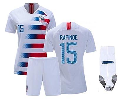 best website 9cc11 56316 Amazon.com : ZZXYSY Megan Rapinoe #15 USA National Team Kids ...