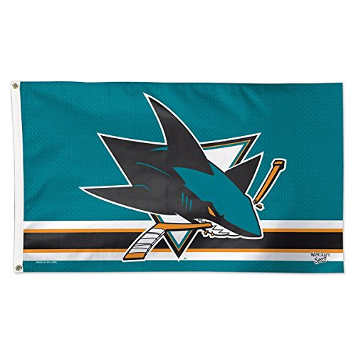 NHL San Jose Sharks Deluxe Flag, 3' x 5' (San Jose Sharks Decor compare prices)