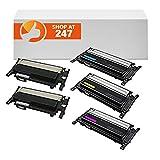 Shop 247 Compatible toner cartridges Replacement for 5PK CLT-406s SET CLP-365 Toner Cartridges compatible for K406S/C406S/M406S/Y406S 406S CLP-360 CLP-365W CLP-366 (2 Black 1 Cyan 1 Yellow 1 Magenta)