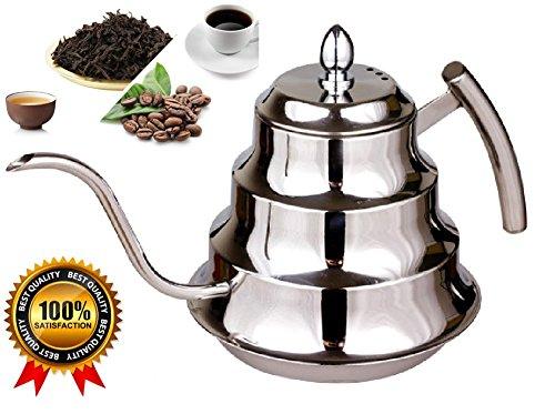 SPJ: Stylish Stainless Steel 1.2L Coffee Drip Kettle Tea Pot