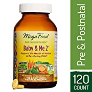MegaFood - Baby & Me 2, Twice Daily Prenatal and Postnatal Supplement to Support Healthy Pregnancy, Development, and Bones for Mother and Child, Herb-Free, Vegetarian, Gluten-Free, Non-GMO, 60 Tablets
