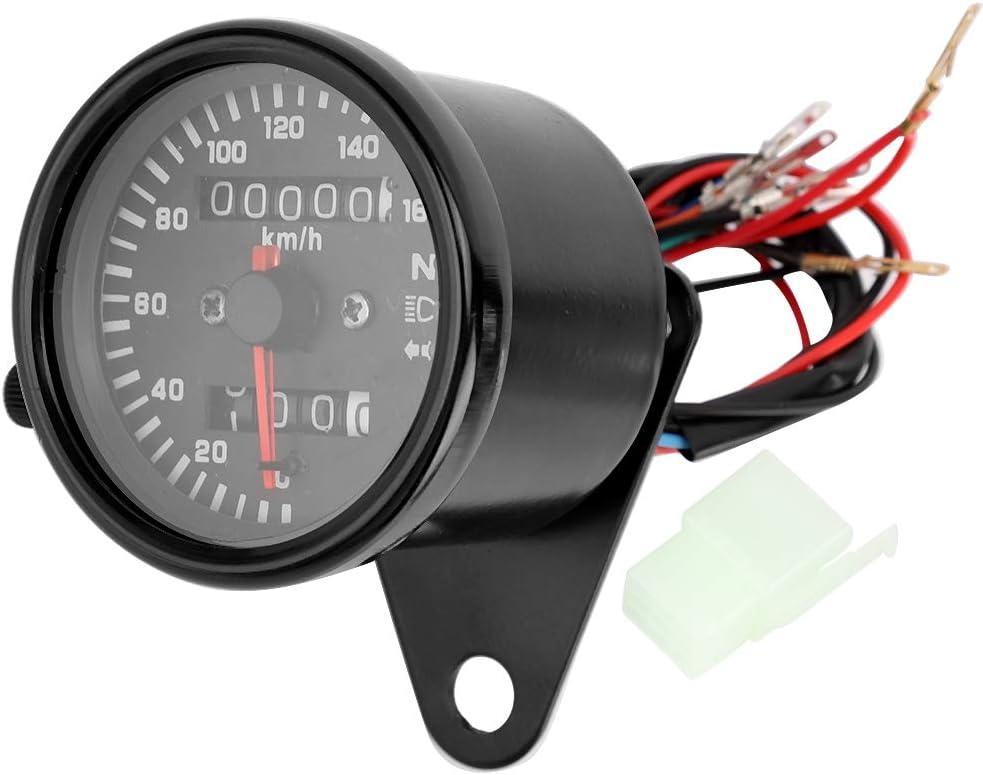 Duokon Display digitale strumento moto Contachilometri contagiri contachilometri in acciaio inossidabile nero