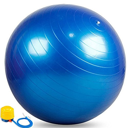 55cm Exercise Ball With Air Pump For Yoga Pilates Fitness