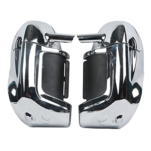 - XMT-MOTO Lower Vented Leg Fairing Glove Box fits for Harley-Davidson Touring Models(Chrome)