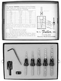 product image for W.L. Fuller 10390006C No. 6 Countersink / Taper Drill Bit Set for #5 to #9 Screws