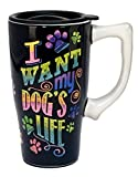 """Spoontiques """"I want my dog's"""" Travel Mug, Multicolor"""