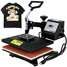 "F2C Professional Swing Away 360-degree Rotation Digital Heat Transfer Sublimation T-shirt Heat Press Machine for T shirt Black (12"" X 10"")"