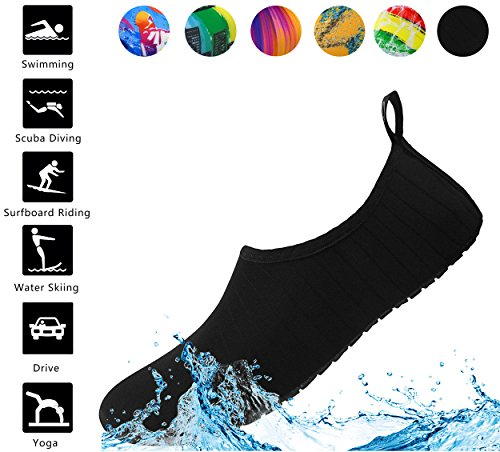 Aifer Unisex Quick Dry Water Barefoot Shoes Lightweight Aqua Sports Shoes For Surf Pool Swim Beach Yoga from Aifer