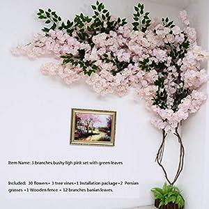 Artificial Cherry Blossom Tree Wall Pipe Interior Decoration Background Cherry Blossom Cane Fake Flowers Fake Vine Vines Make Sc,Type C 5